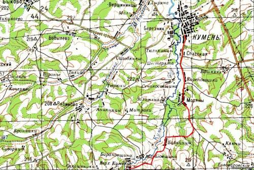 Кумёнский Район Карта